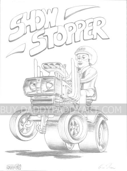 "Tractor- Print 17"" x 24"""