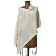 CLOTHING - Eco Cable Knit Poncho