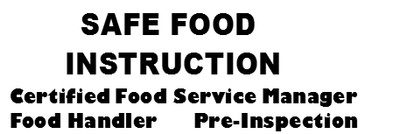 Safe Food Instruction