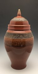 Deep Sienna and Ash Urn