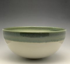 White and Jade/Blue Bowl