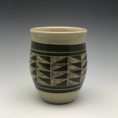 Geometric Hand Carved tumbler