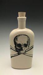 Skull N' Bones Flask (white on white)