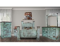 Mansion Turquoise Bedroom Set