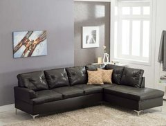Vintage Sectional Black