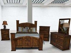 Mansion Antique Cross Bedroom Set