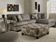 8642 Smoke Sectional