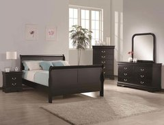 Louis Philip Bedroom Set Black