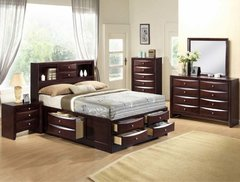 Emily Storage Bedroom Dark Cherry