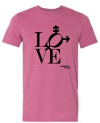 Love design Unisex Short Sleeve Tee