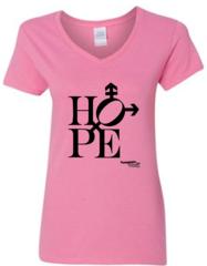 Hope design Feminine V-Neck Short Sleeve Tee