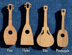 Ukulele Charms Novelty