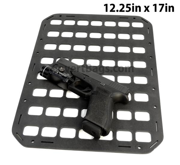 Grey Man Tactical Rigid MOLLE Panel 12.25in x 17in