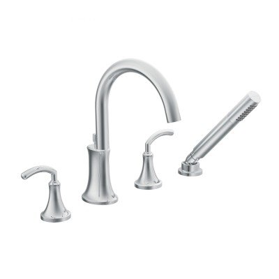Moen TS964 Icon Two-Handle High Arc Roman Tub Faucet Includes Hand ...