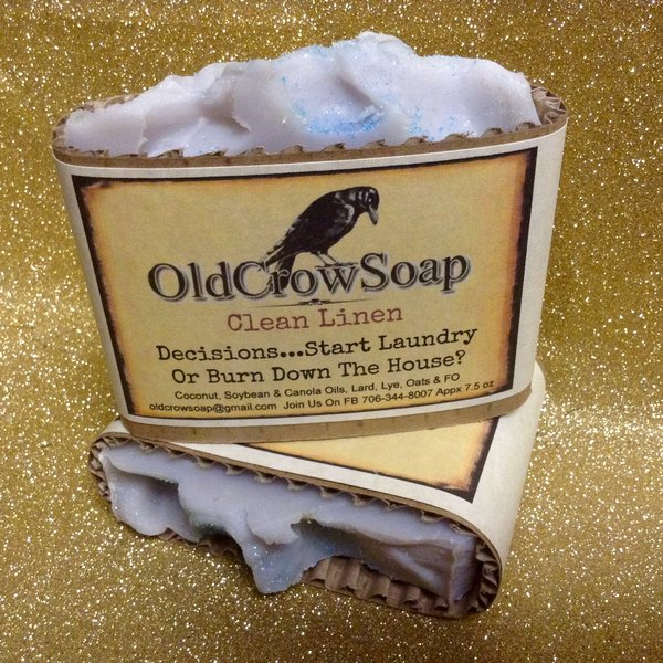Winter Garden Clean Linen Handmade Soap Blush 809 Boutique