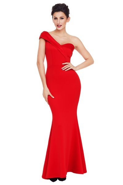 Gorgeous Sexy One Shoulder Evening Cocktail Dress