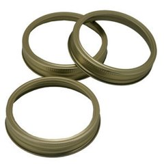 Item 32] CANNING JAR RINGS - WIDE MOUTH (BANDS ONLY) - LOT OF 60