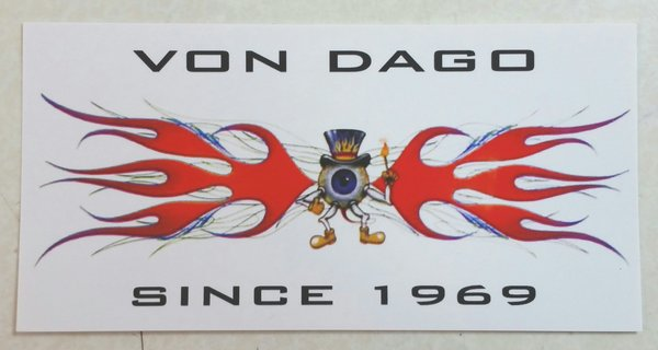 "Von Dago Flamed ""Sticker"""
