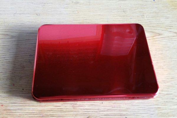 "Candy Apple Red ""Seamless"" Metal Pinstriping Brush Box"
