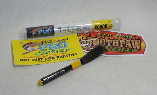 LEFT HANDED # 0000 (4-0) Pro-Series Pinstriping brush