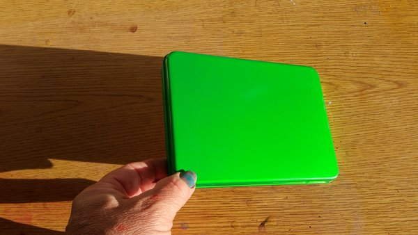 "Pearl Candy Green ""Seamless"" Metal Pinstriping Brush Box"