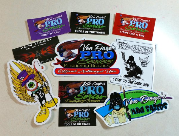 "Pro-Series 10 piece ""Sticker Pac"""
