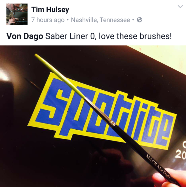 MACK-DAGO Saber Liner #0 - Out Lining Lettering brush