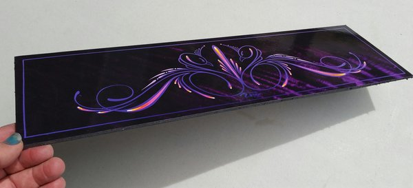 Purple Swans - Mounted Glossy Art Print
