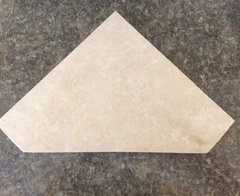 "Ivory Travertine Shower Corner Shelf 1/2"" Diamond Shape"