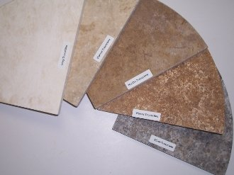 Walnut Travertine Natural Stone Shower Corner Shelf 1 2