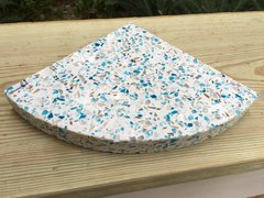 3cm Juneau Recycled Glass Shower Corner Shelf