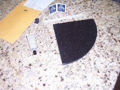 "Quick Corner Caddy System: 8"" Black Granite"