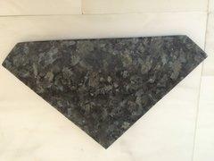 "Blue Pearl Shower Corner Shelf 3/8"" Diamond Shape"