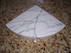 3cm White Carrara Marble Shower Corner Shelf