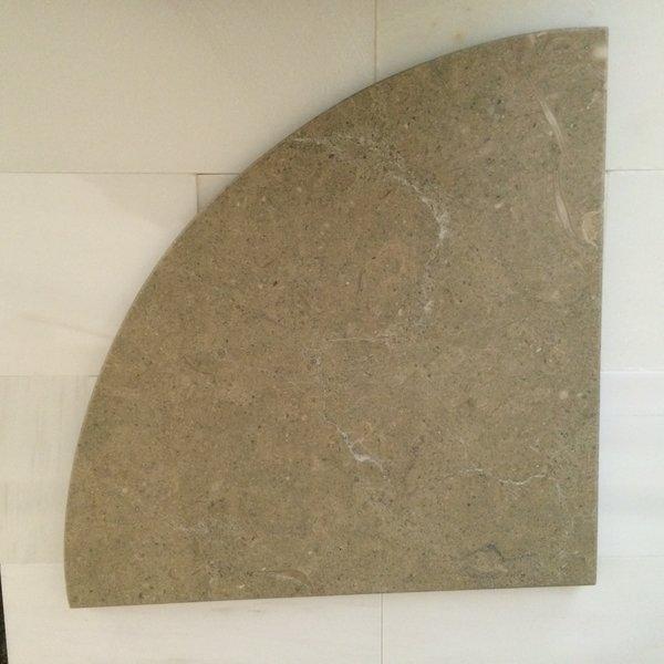 Sea Fossil Limestone Natural Stone Shower Corner Shelf