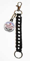 Paracord Keyring with Personalized Route 66 button and a black paracord FOB CH454PKR