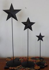 STAR PHOTO HOLDER, SET OF 3-RUSTIC BROWN