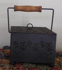 Tin Lady Bug Tart Warmer with Wood Handle