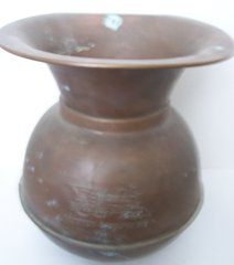 EARLY 1900'S SPITOON, UNION PACIFIC RR BRASS/COPPER