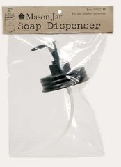 BLACK MASON JAR SOAP DISPENSER FOR, QUART OR PINT JARS!