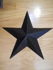 "18"" BLACK TIN STAR"