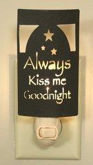 ALWAYS KISS ME GOODNIGHT SILHOUETTE NIGHT LIGHT