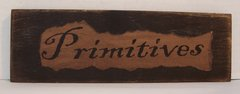 "8"" Primitives Printed Wood Sign, Made in the USA"