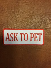 Ask to pet patch