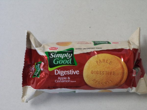 Simply Good Digestive Apple & Cinnamon Biscuits Parle 100 g