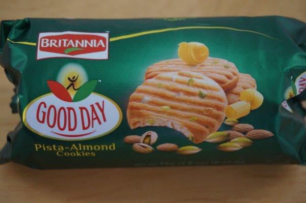 Good Day Pista-Almond Cookies, Britannia, 75 G