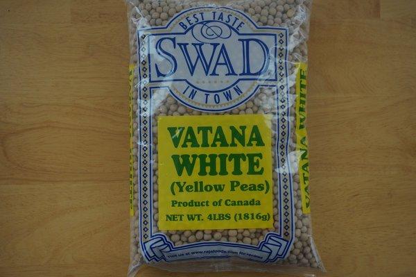 Vatana White (Yellow Peas, Swad, 4 lbs)