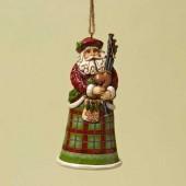 Scottish Santa Ornament
