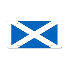 Scottish Flag License Plate