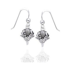 Thistle Silver Earrings